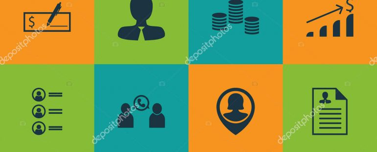 Set Of Human Resources Icons On Money, Bank Payment And Manager Topics. Editable Vector Illustration. Includes Bank, Call, Male And More Vector Icons.